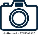 photo camera line or outline...