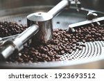 Fresh Coffee Beans In Roast...