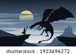 silhouette of fiction with... | Shutterstock .eps vector #1923696272