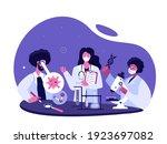 team of doctors scientists...   Shutterstock .eps vector #1923697082