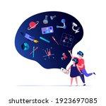 virtual reality concept...   Shutterstock .eps vector #1923697085
