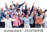 group of elderly friends raised ...   Shutterstock . vector #1923700958