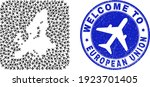 vector collage european union...   Shutterstock .eps vector #1923701405