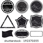 set 9 rubber stamp template   Shutterstock .eps vector #192370355
