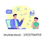 remote education.online digital ...   Shutterstock .eps vector #1923706955