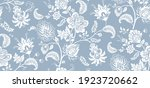 two color vector floral pattern.... | Shutterstock .eps vector #1923720662