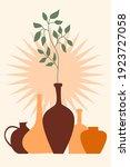 plant  bottle  vase pattern...   Shutterstock .eps vector #1923727058