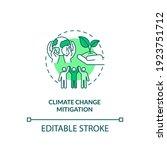 climate change mitigation... | Shutterstock .eps vector #1923751712