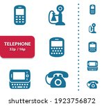 telephone icons. professional ... | Shutterstock .eps vector #1923756872