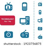 technology icons. professional  ... | Shutterstock .eps vector #1923756875