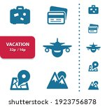 vacation  tourism icons.... | Shutterstock .eps vector #1923756878