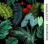 tropical vector seamless... | Shutterstock .eps vector #1923759995