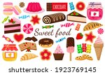 a set of sweets. sweet pastries ... | Shutterstock .eps vector #1923769145
