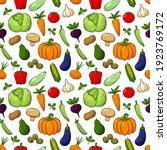 seamless pattern with different ... | Shutterstock .eps vector #1923769172