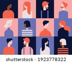 collection of people. color... | Shutterstock .eps vector #1923778322