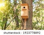 Wooden Birdhouse For Birds On A ...