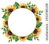 Watercolor Sunflower Frame....