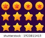mobile game golden stars vector ...