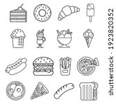 food icons isolated on white... | Shutterstock .eps vector #1923820352