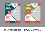 tennis camp flyer template...   Shutterstock .eps vector #1923829988