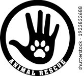 animal rescue  friendship and... | Shutterstock .eps vector #1923832688