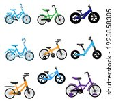 set of kids bikes. bicycles for ...   Shutterstock .eps vector #1923858305