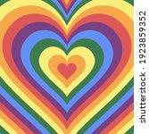 heart icon. rainbow love vector ...   Shutterstock .eps vector #1923859352