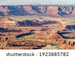 Sandstone monuments, Canyonlands National Park, near Moab, Utah, USA