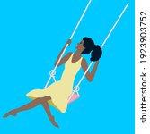 african american girl swinging... | Shutterstock .eps vector #1923903752