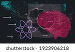 chalkboard with drawings and...   Shutterstock .eps vector #1923906218
