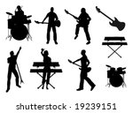 musician vector silhouettes | Shutterstock .eps vector #19239151