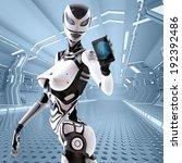 modern design robotic sci fi...