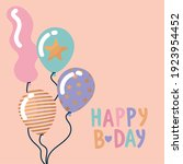 happy birthday lettering with... | Shutterstock .eps vector #1923954452