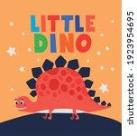 little dino lettering and one... | Shutterstock .eps vector #1923954695