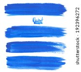 deep blue watercolor brush... | Shutterstock .eps vector #192396272