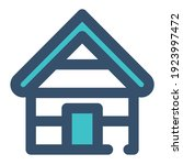 icon lodge using filled line...   Shutterstock .eps vector #1923997472