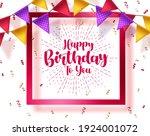 happy birthday vector template... | Shutterstock .eps vector #1924001072