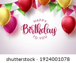 birthday greeting card vector... | Shutterstock .eps vector #1924001078