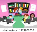 illustration of stickman kids... | Shutterstock .eps vector #1924002698