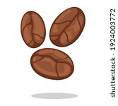 coffee bean addictive icon... | Shutterstock .eps vector #1924003772