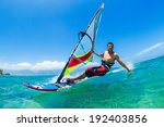 windsurfing  fun in the ocean ... | Shutterstock . vector #192403856
