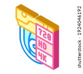 video quality isometric icon... | Shutterstock .eps vector #1924046192