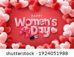 happy women's day poster or...   Shutterstock .eps vector #1924051988