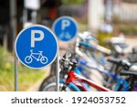 Bike Parking Sign With A...