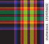 rainbow plaid  checkered ...   Shutterstock .eps vector #1924056632
