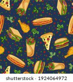 vector seamless pattern with... | Shutterstock .eps vector #1924064972
