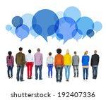 multiethnic diverse people... | Shutterstock . vector #192407336