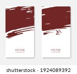 abstract ink brush banners set... | Shutterstock .eps vector #1924089392