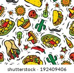 super mexican food and objects... | Shutterstock . vector #192409406