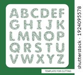 stencil with the english... | Shutterstock .eps vector #1924095578